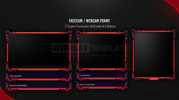 animated package,preview facecam,devuls,overlaytemplate.com