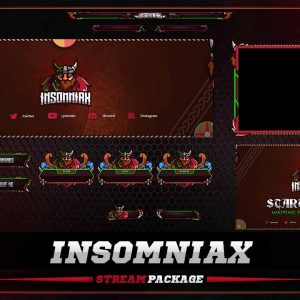 animated package,preview,insomniax,overlaytemplate.com