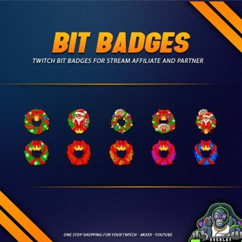 bit badges,preview,christmas wreath,overlaytemplate.com