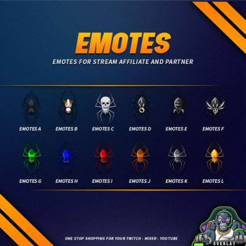 emote preview,spider,overlaytemplate.com
