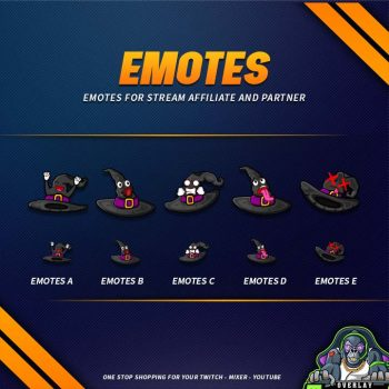 emote,preview,witch hat,overlaytemplate.com