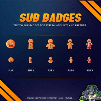sub badges,preview,chirstmas gingerbread,overlaytemplate.com