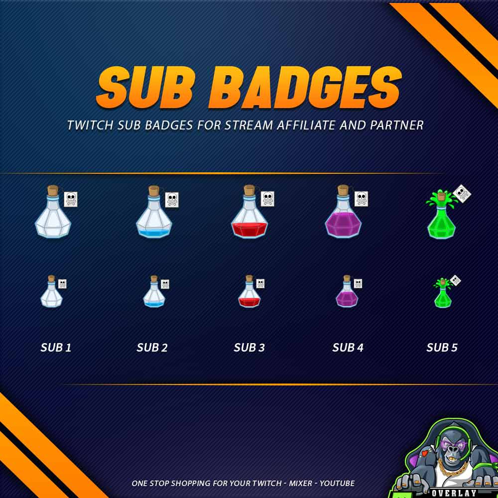 sub badges,preview,poison bottle,overlaytemplate.com
