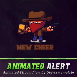 animated alert,preview,cowboy,overlaytemplate.com