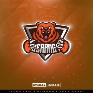 logo,preview,angry bear,overlaytemplate.com