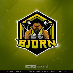logo,preview,bjorn viking,overlaytemplate.com