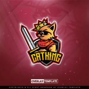 logo,preview,cat king,overlaytemplate.com