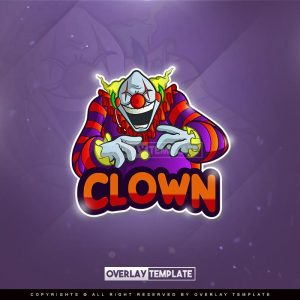logo,preview,clown gamer,overlaytemplate.com