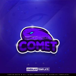 logo,preview,comet gamers,overlaytemplate.com