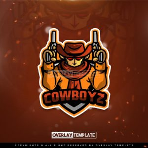 logo,preview,cowboywith2guns,overlaytemplate.com