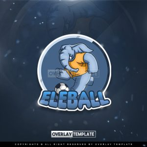 logo,preview,elephant play ball,overlaytemplate.com