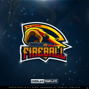 logo,preview,fire ball gaming,overlaytemplate.com