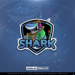 logo,preview,fisher shark,overlaytemplate.com