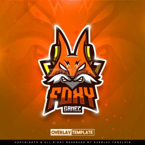 logo,preview,foxy gamez,overlaytemplate.com