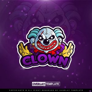 logo,preview,freaky clown,overlaytemplate.com