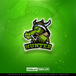 logo,preview,hunter barbarian,overlaytemplate.com