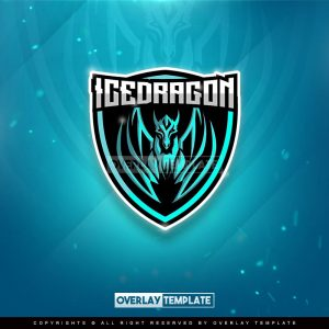 logo,preview,ice dragon,overlaytemplate.com