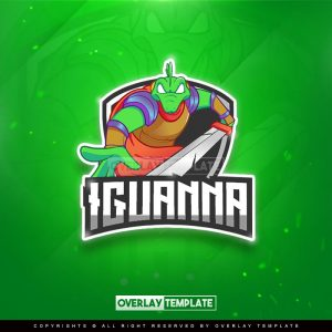 logo,preview,iguana future knight,overlaytemplate.com