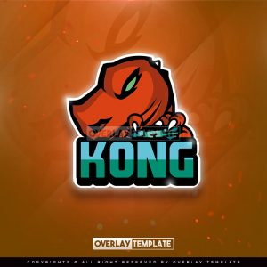 logo,preview,kong gaming,overlaytemplate.com
