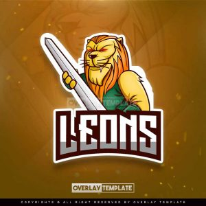 logo,preview,lion gripped the sword,overlaytemplate.com