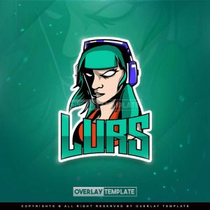 logo,preview,lurs gaming,overlaytemplate.com