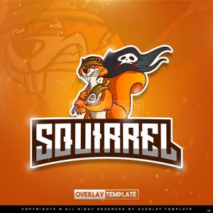 logo,preview,pirates squirrel,overlaytemplate.com