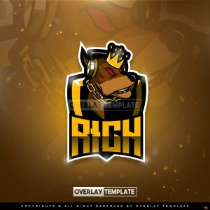logo,preview,rich doggy,overlaytemplate.com