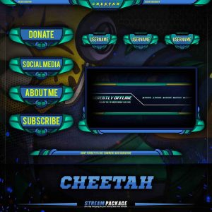 package,thumbnail,cheetah gamers,overlaytemplate.com