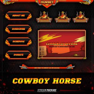 package,thumbnail,cowboy horse,overlaytemplate.com