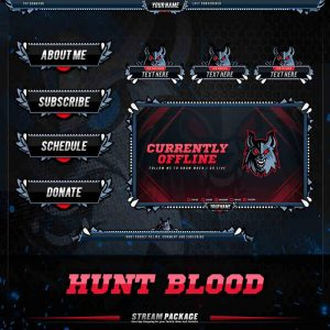 package,thumbnail,hunt blood,overlaytemplate.com