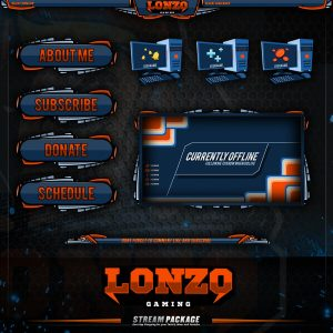 package,thumbnail,lonzo gaming,overlaytemplate.com