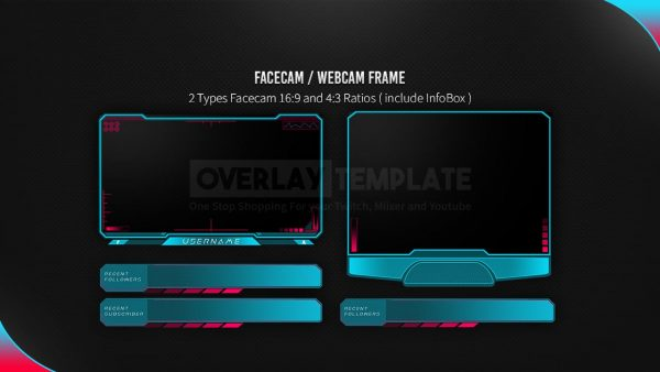 animated overlay package,preview facebook,cyberghost,overlaytemplate.com
