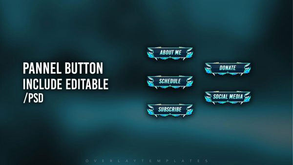 animated overlay package,preview panel,horn,overlaytemplate.com