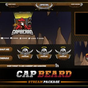 animated overlay package,preview,capbeard,overlaytemplate.com