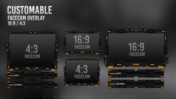 animated overlay package,preview,facecam,delirium,overlaytemplate.com