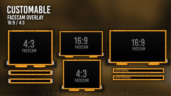 animated overlay package,preview,facecam,drobo,overlaytemplate.com