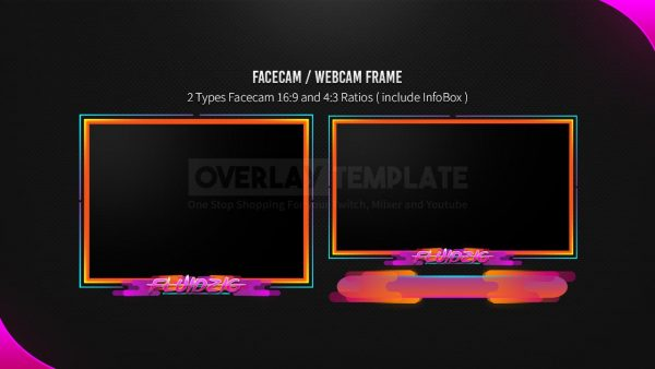animated overlay package,preview,facecam,fluidzig,overlaytemplate.com