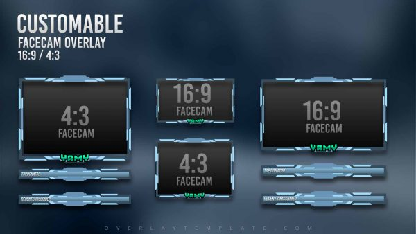 animated overlay package,preview,facecam,yamy,overlaytemplate.com