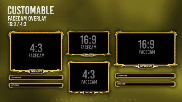 animated overlay package,preview,facecam,zeus,overlaytemplate.com