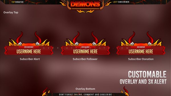 animated overlay package,preview,overlay alert,demon,overlaytemplate.com