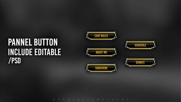 animated overlay package,preview,pannel button,overlaytemplate.com