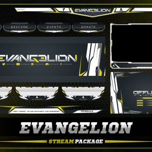 animated overlay package,thumbnail,evangelion,overlaytemplate.com