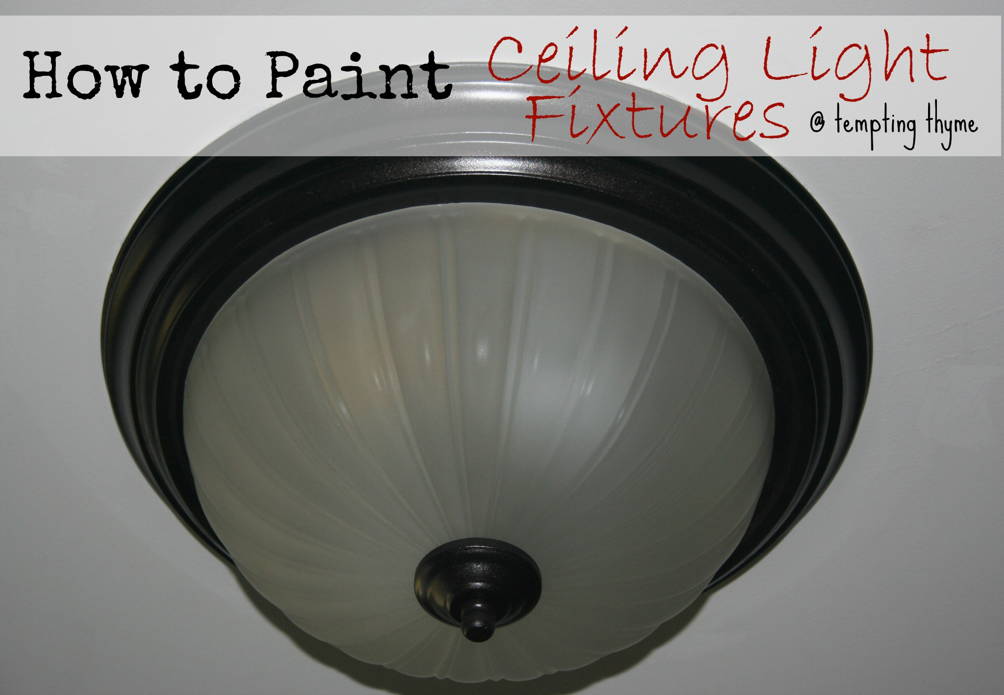 Taking Down Light Fixture