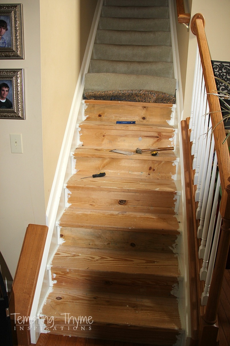 Stair Project Begins Removing The Carpet And Prepping The Wood | Changing Carpeted Stairs To Wood | Stair Railing | Wood Flooring | Stair Case | Laminate Flooring | Staircase Makeover
