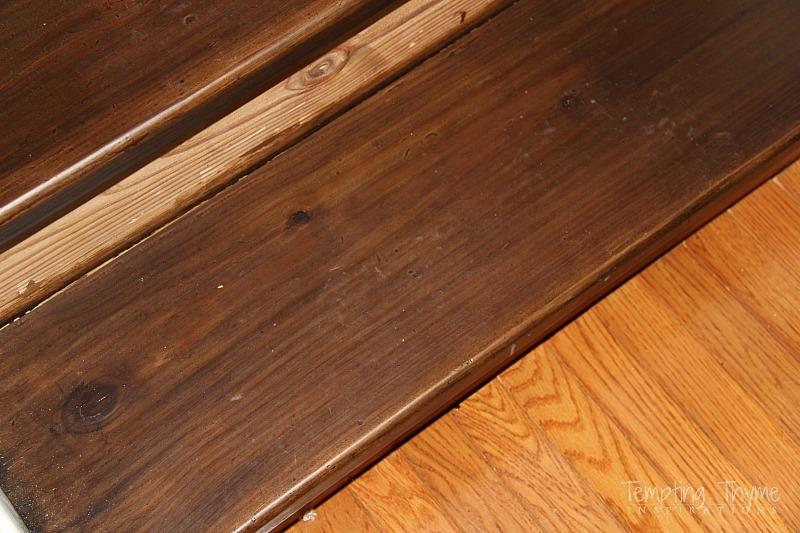 Staining Pine Stair Treads Tempting Thyme | Staining Pine Stair Treads | Painting | White Pine | Wooden | Tile | Stained White Oak