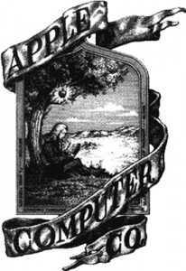 Primer logo de Apple