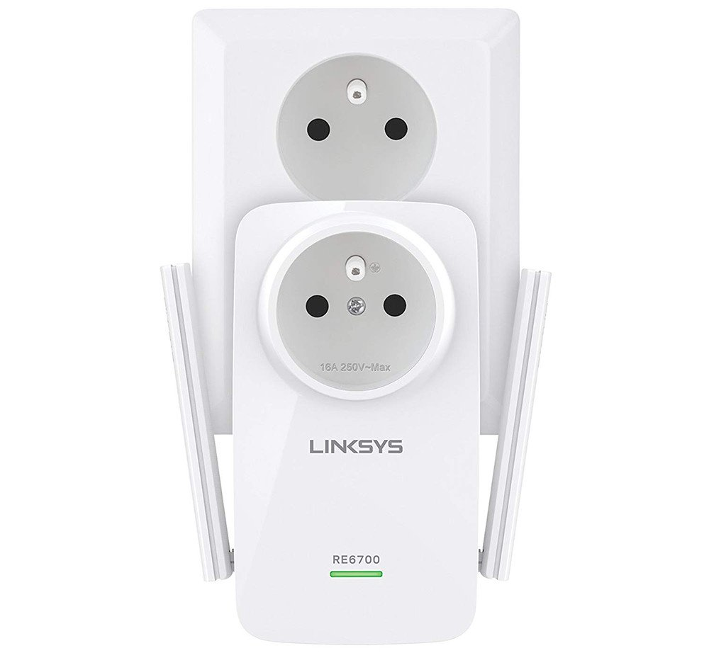 Repetidor WiFi de banda dual universal AC1200 Linksys RE6700-EF
