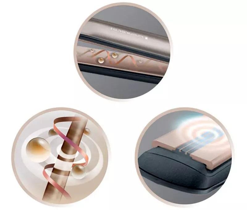 Plancha Remington, Plancha Keratin Therapy Pro, Placas de cerámica avanzadas, Calentador rápido, Suavizado profesional, 5 temperaturas - S8590