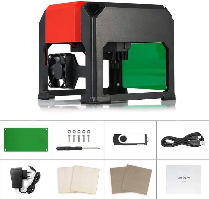 Machine automatique de gravure de laser 3000mW graveur de découpage de DIY