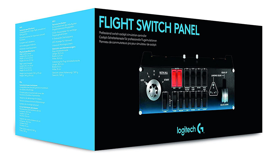 Test du Logitech G Saitek Pro Flight Switch Panel